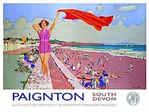 Paignton (Old Rail Ad.) small steel sign 200mm x 150mm (og)